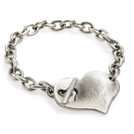 Danon Jewellery Silver Bracelet with Large Chunky Heart