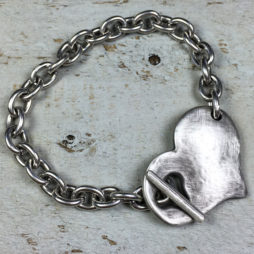 Danon Jewellery Silver Bracelet with Chunky Heart
