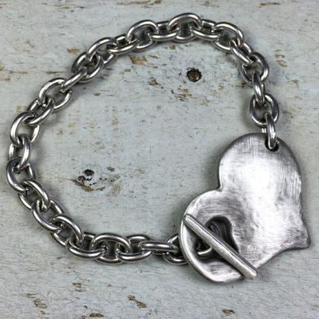 Danon Jewellery Silver Bracelet with Chunky Heart