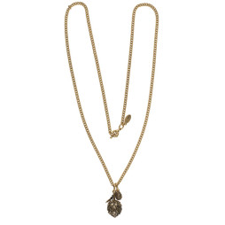Hultquist Jewellery Gold Artichoke Long Necklace with diamond crystal ball