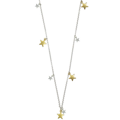 Hultquist Jewellery Silver and Gold Star Pendants Necklace