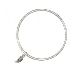 Danon Jewellery Silver Bangle with Mini Wing Charm