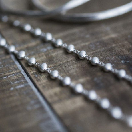 Tutti & Co Jewellery Long Silver Bead Chain Necklace