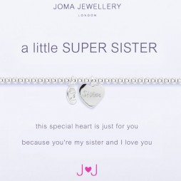 Joma Jewellery a little Super Sister Silver Bracelet