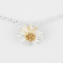 Estella Bartlett Silver Plated Wild Flower Necklace