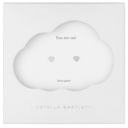 Estella Bartlett Silver Plated Mini Heart Stud Earrings