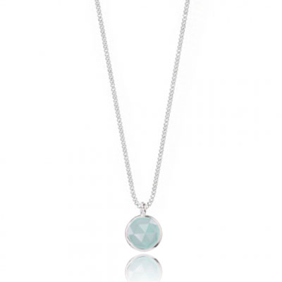 Joma Jewellery Siren Chalcedony Silver Plated Necklace 1269 - EOL