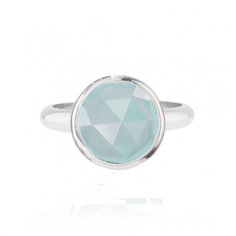 Joma Jewellery Siren Chalcedony Silver Plated Ring