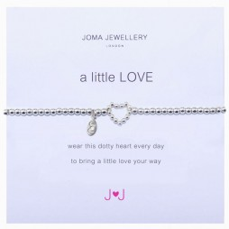 Joma Jewellery a little Love Silver Dotty Heart Bracelet 366