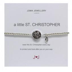 Joma Jewellery a little St Christopher Silver Bracelet 511
