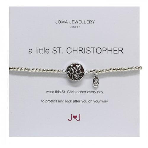 Joma Jewellery A Little St Christopher Silver Bracelet
