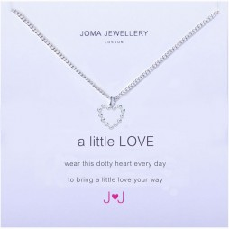 Joma Jewellery a little Love Silver Dotty Heart Necklace