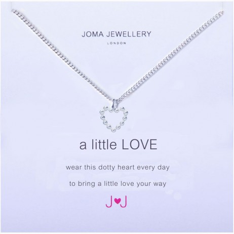 Joma Jewellery a little Love Silver Dotty Heart Necklace 526
