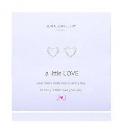Joma Jewellery a little Love Silver Dotty Heart Earrings