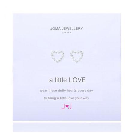 Joma Jewellery a little Love Silver Dotty Heart Earrings 527