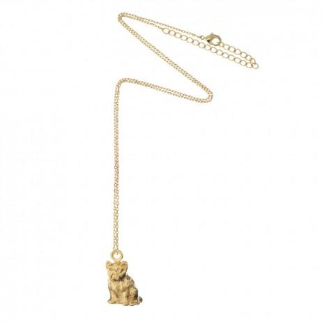 Estella Bartlett Gold Plated Pug Dog Necklace