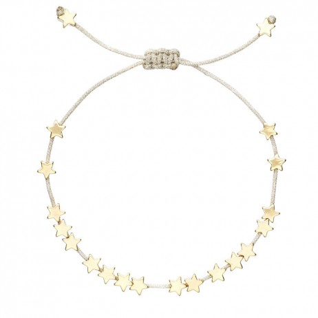 Estella Bartlett Gold Plated Star Bracelet with Silver Cord