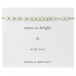 Estella Bartlett Silver Plated Stars Friendship Bracelet
