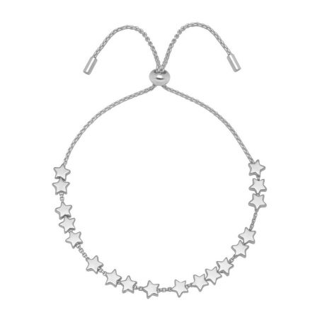 Estella Bartlett Silver Plated Stars So Bright Slider Bracelet