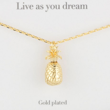 Estella Bartlett Gold Plated Pineapple Necklace - EOL