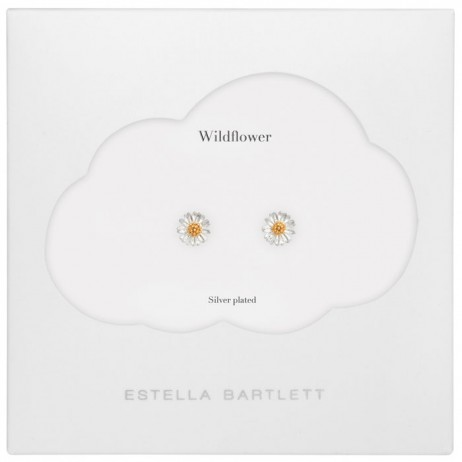 Estella Bartlett Silver Plated Wild Flower Earrings