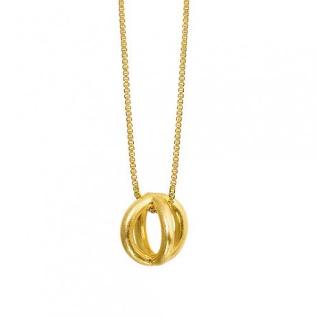 Sence Copenhagen Gold Plated Harmony Sphere Necklace