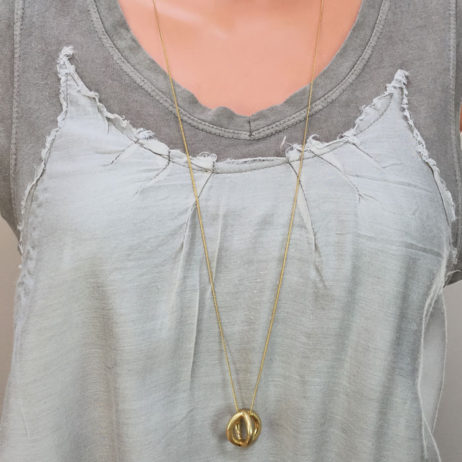 Sence Copenhagen Gold Plated Harmony Sphere Necklace