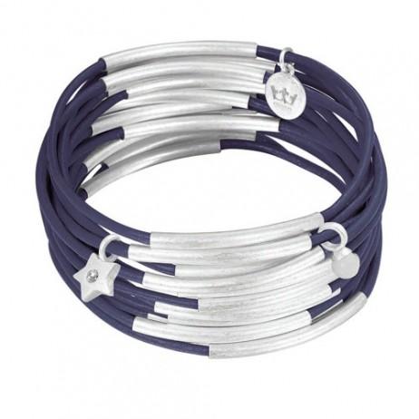 Sence Copenhagen Silver Plated Blue Indigo Urban Gipsy Bracelet