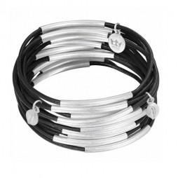 Sence Copenhagen Black with Silver Urban Gipsy Bracelet