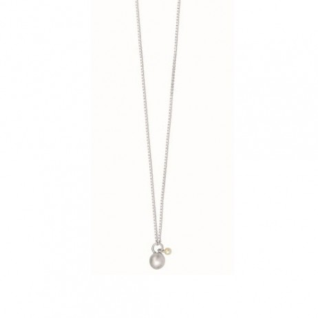 Sence Copenhagen Silver Plated Essentials Necklace with Pearl
