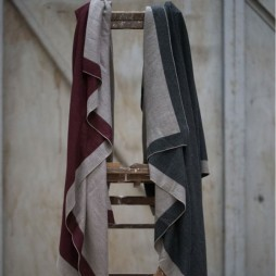 Tutti and Co Oxblood Stone Selvedge Throw