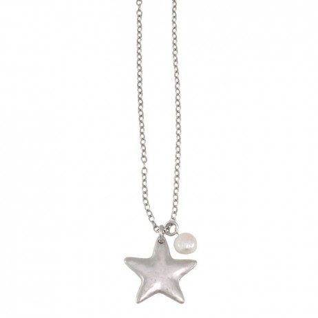 Danon Long Silver Star Necklace