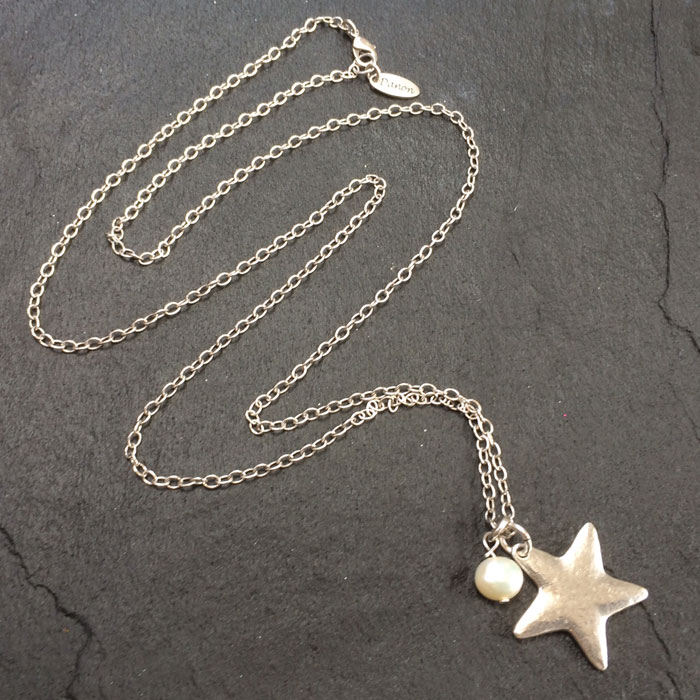 az chain necklace silver star with pendant sterling in jewelry n patriotic inches bling
