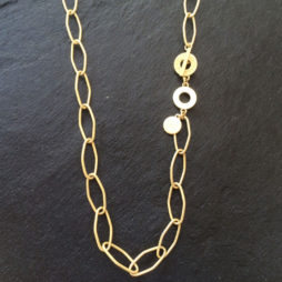 Sence Copenhagen Essentials Gold Plated Links Necklace