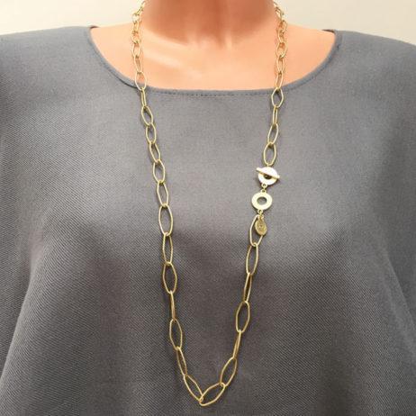Sence Copenhagen Essentials Gold Plated Links Necklace