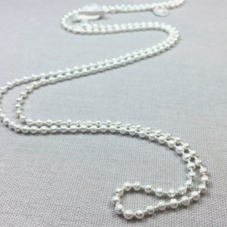 Sence Copenhagen Long Silver Plated Essentials Ball Chain Necklace