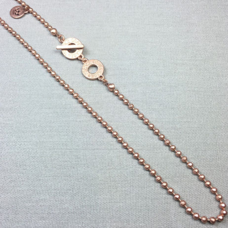 Sence Copenhagen Long Rose Gold Plated Essentials Ball Chain Necklace