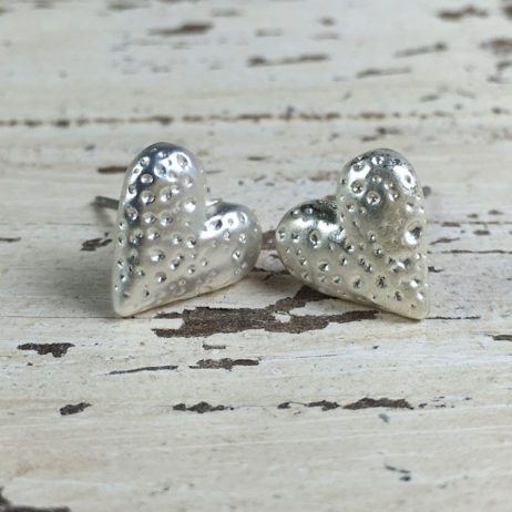 Hot Tomato Jewellery Silver Plated Heart Stud Earrings