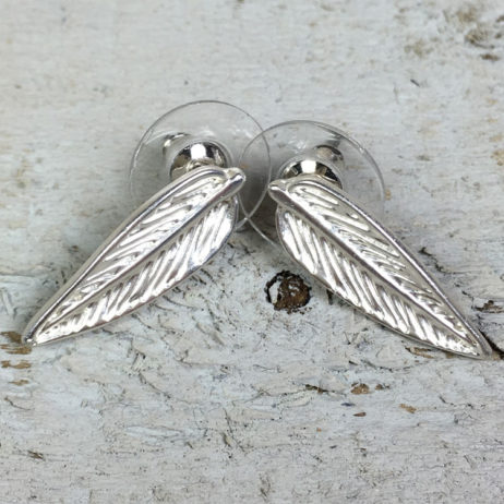 Hot Tomato Jewellery Silver Plated Feather Earrings
