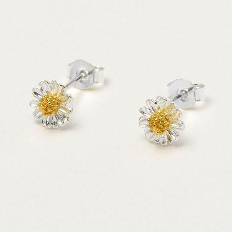 Estella Bartlett Silver Plated Mini Wildflower Stud Earrings