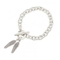 Danon Jewellery Silver Feathers Bracelet