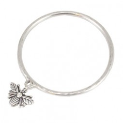 Danon Jewellery Silver Bee Bangle with Crystal