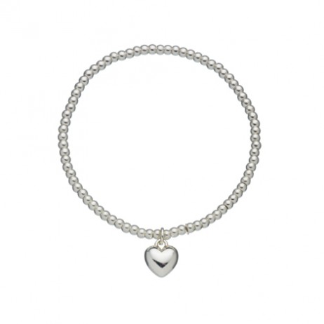 Estella Bartlett Silver Plated Sienna Heart Bracelet