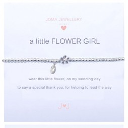 Joma Jewellery Girls a little Flower Girl Silver Bracelet C027