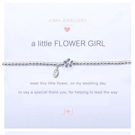 Joma Jewellery Children's a little Flower Girl Silver Bracelet