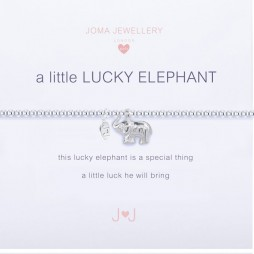 Joma Jewellery Children's a little Lucky Elephant Silver Bracelet