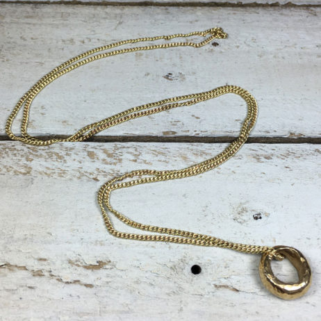 Tribe and Fable Ethiopian Small Promise Ring Gold Necklace