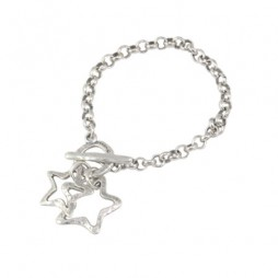 Danon Jewellery Silver Double Star Bracelet