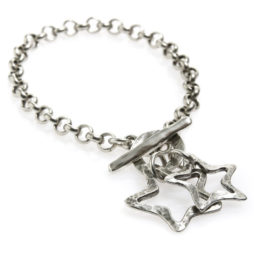 Danon Jewellery Silver Double Star Bracelet