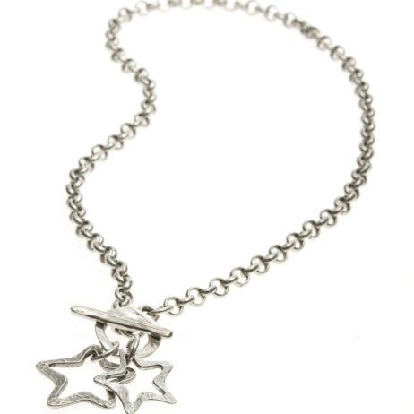 Danon Jewellery Silver Stars Necklace